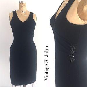 Vintage St. John Evening Tank Dress, elegant mini